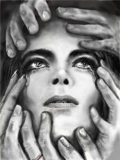 Michael Jackson Drawings, Michael Jackson Images, Dark Art Drawings, Amazing Drawings, Amazing Art, Tears Of An Angel, Michael Love, Michael Art, The Jacksons