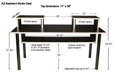 AZ-Keyboard Studio Desk