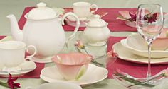 Porcelana, ceramika, serwisy obiadowe, filiżanki, sztućce, talerze - Serwis obiadowy Sakura (Villa Italia)