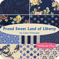 Proud Sweet Land of Liberty Fat Quarter Bundle Color Principle for Henry Glass Fabrics