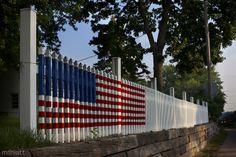 West Des Moines. Fence Flag #USA #travel #Iowa