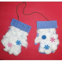 Fuzzy Mitten Craft   > Use w/ The Mitten