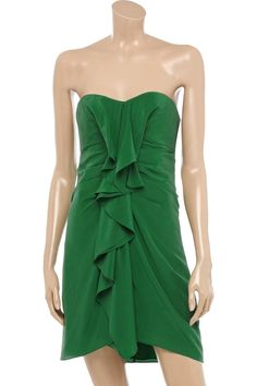 Destination Weddings & Honeymoons  www.cori.allabouthoneymoons.com  BCBG Max Azria green silk dress
