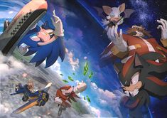 At Comic Market which will be held in Japan, will distribute the illustrations doujinshi of Sonic. This picture is the cover of the book. I drew a Sonic Adventure 2 the theme. After the event, . Sonic The Hedgehog, Shadow The Hedgehog, Doctor Eggman, Sonic Adventure 2, Rouge The Bat, Pokemon, Sonic Franchise, Sonic And Shadow, Sonic Fan Art