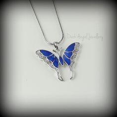 Kiwina Blue Butterfly Necklace