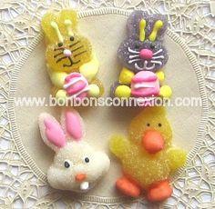 Decorative jelly candy for DIY kabobs - Gelées décoratives pour faire vos brochette de Pâques.  #bonbonspaques #eastercandy
