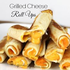 Grilled Cheese Roll Ups!  Yummy!  The kiddos love dipping these in soup! (Ok, so do the grown ups!)