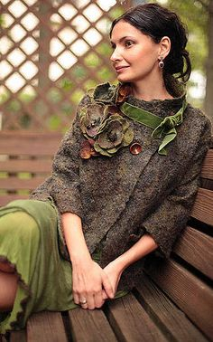 Beautiful coats and ideas here. felted coats