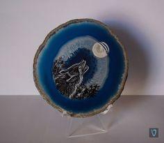 Patrón natural de la ágata de la piedra natural complementada por mi imaginación Eстествения рисунък на натурален камък ахат допълнен от моето въображение. #art #valian #agate #acrilyc valian-art.com/...