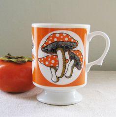 Vintage Footed Tea Coffee Mug Cup by LingonberriesAndMoss on Etsy, $9.00