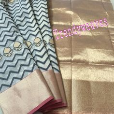 #IWearHandloom #Go #stylish #with #this #pure #kora #saree #Cotton #handloomlove #cotton #khadi #khadilove #pochampally #ikkatsarees #kotasarees #kota  #IWearHandloom Code: SAREE Material:KORASAREE WITH TISSUE ZARI BORDER AND PALLU To block please drop us an email at trendyweaves@gmail.com or call/whatsapp on 09618419046
