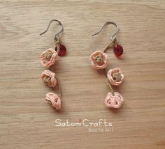 Pierces, Tatting Jewelry_Japanese apricot (Pink)