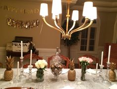 DIY Birthday dinner table set up
