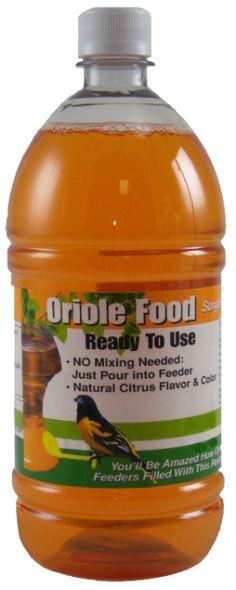 1 Liter (33.8 oz) Orange Ready-To-Use Oriole Nectar
