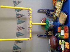 Could use pool noodles!?  Football baby shower ideas