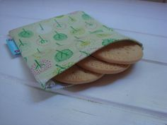 Pink & Green Trees Fabric Snack or Goodies Bag