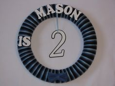 Boy Birthday Wreath - Birthday Decoration - Birthday Tradition Wreath. $35.00, via Etsy.