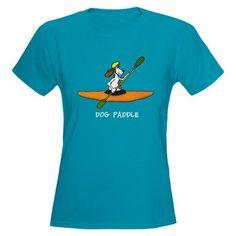 Dog Paddle Women's Dark T-Shirt