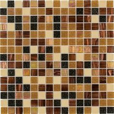 Ideas for tabletops in sunroom --- Elida Ceramica Multi Grain Glass Mosaic Square Indoor/Outdoor Wall Tile (Common: 13-in x 13-in; Actual: 12.75-in x 12.75-in)