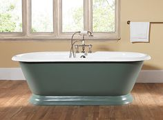 Silverdale Bathrooms' majestic Portia Roll Top bath.  Available primed so that you can paint it any colour of your choice