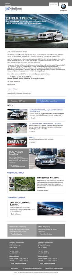 mailingwork hat für das Autohaus #Melkus ein neues #Template plus #Design erstellt. #newsletter