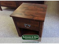 The Kanyon Nightstand is made from local, Northwest, FSC-certified alder wood. Available at Bedrooms & More Seattle.