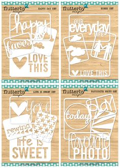 Flutterby Designs — DIGITAL Flutterby 'Fussy Cuts' 2