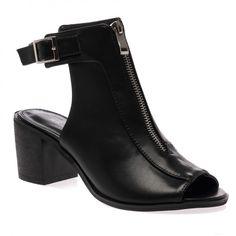 Francis Black Peeptoe Cut Out Boots on Public Desire