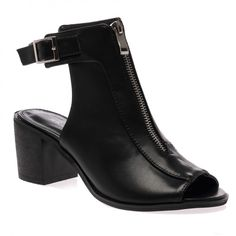 Francis Black Peeptoe Cut Out Boots on Public Desire