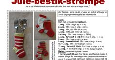 julestrømpe til bestik.pdf Christmas Stockings, Diy And Crafts, Holiday Decor, Crochet, Creative, Pattern, Inspiration, Amigurumi, Threading