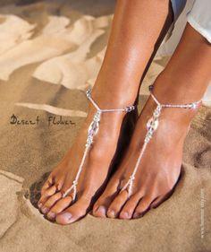 e44c2cb4f79172 Rhinestone Bridal foot jewelry Sparkle Crystal Barefoot Sandals Bridal  barefoot sandal Beaded bling Bridal accessory Beach wedding