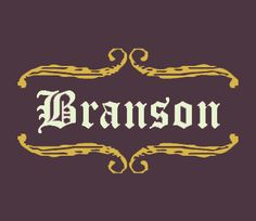 "Branson. Celtic meaning ""Brandon's son,"" ""son of the raven,"" and ""sword."" Common modern Irish last name. Alternate spelling Bransen. Popularized in America by the character Tom Branson, husband of Lady Sybil on popular PBS-aired show Downton Abbey. #baby #boy #name #irishnames #boynames #branson #brandon"