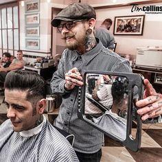 Frank Rimer - London Barber on Behance Barber Shop Pictures, Tony Barber, Barber Tips, Barber Tattoo, Best Beard Oil, Barber Shop Decor, Environmental Portraits, Great Beards, Beard Grooming