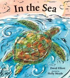 In the Sea  (Book) : Elliott, David : Random House, Inc.A New York Times best-selling author and a Caldecott Honor-winning illustrator explore life in the ocean with clever poems and bold, expressive woodcuts.The briny deep is home to an enormous variety of fascinating creatures, from the dainty sea horse to the fearsome shark, from the spiny sea urchin to the majestic blue whale. In striking woodcut illustrations, diverse creatures glide through blue and green waters, while succinct, witty…