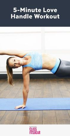 """It's time to give your love handles a little love. And by love, we mean """"work that area!"""" Get a stronger core and chiseled waist with this"""