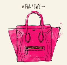 Celine Luggage Tote // A bag a day // illustration Laura Hobson