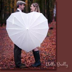 Heart-Shaped Windproof Umbrella