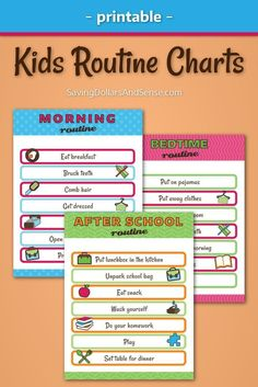 One of the ways that you can be sure that your kids have the most successful school year yet is by teaching them how to live with simple daily routines that will help everyone stay on track in all areas of their lives all year long. Even choosing just on After School Routine, School Routines, Daily Routines, Daily Schedules, Kids Routine Chart, Kids Schedule Chart, Summer Schedule, Chore Chart Kids, Chore Charts