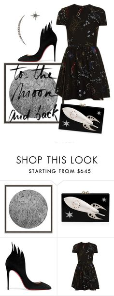 """to the moon"" by janesmiley ❤ liked on Polyvore featuring Wendover Art Group, Charlotte Olympia, Christian Louboutin, Valentino and Federica Tosi"