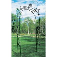 """Tuileries Arbor NoPart: ARB-01 by Feng Shui. $358.59. Powder Coated - Graphite. 51""""L x 38""""W x 3""""H. ACHLA Designs, a Garden Accessories company, emphasizes unique, handforged, wrought iron, European furnishings for the home and garden. Items range from small hooks and brackets to large pavilions and arbors. We also offer birdbaths, birding & garden pole systems, trellises, statuary, composting products, and wood and metal furniture.. Eligible for FREE Super Saver Shipping on t..."""