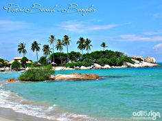 One of beautiful beach in Bangka Belitung, Indonesia <3. I'd love to visit this.. Beautiful..