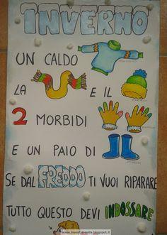 maestra Nella: Inverno - poesia illustrata Paper Towel Rolls, Vintage School, Kids Learning, Pixel Art, Montessori, Origami, Kindergarten, Projects To Try, Clip Art