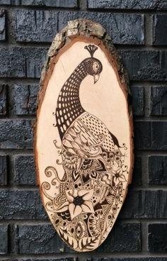 Peacock Zentangle Wall Art