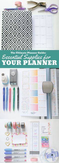 The Ultimate Planner Guide: Essential Supplies for You Planner To Do Planner, Passion Planner, Planner Tips, Planner Supplies, Life Planner, Happy Planner, Planner Writing, Office Supplies, 2015 Planner