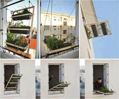 Clever Apartment herb garden - Now you see it, now you don't!
