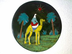 Wandteller Wall Plate Beduine Kamel Camel 50s 60s ? Space Age Mid Century Era ??
