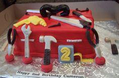 Trifles' Toolbox Birthday Cake Kids Tool Box, Tool Box Cake, Trifle Desserts, Happy 2nd Birthday, Trifles, Toolbox, Birthday Cakes, Cake Ideas, Wedding Cakes