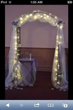 Arch that my husbands family decorated the day of the wedding