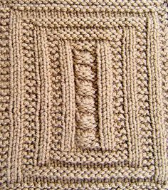Framed Pebbles Square Knitting pattern by Terry Morris | Knitting Patterns | LoveKnitting