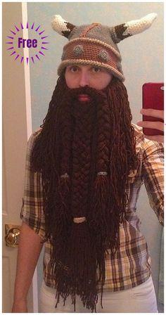 25f03fd704f Halloween Crochet Dwarven Viking Beard Free Crochet Pattern